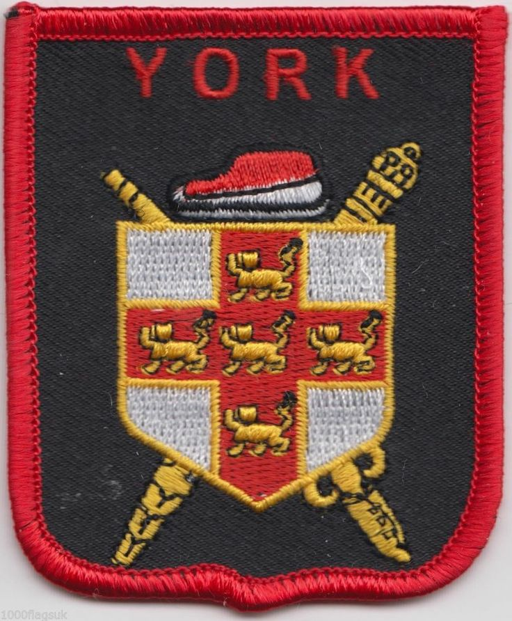 York City Crest Yorkshire County Flag Embroidered Patch Badge