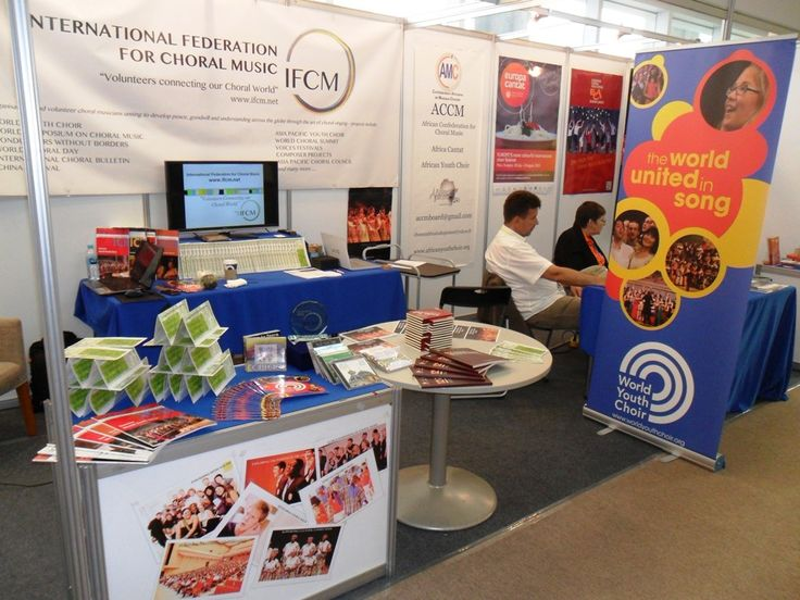 In Seoul. The Symposium and the World Choral Expo. IFCM's booth, World Youth Choir exhibit. © The Foundation World Youth Choir