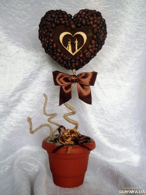 Кофейный топиарий «Свадебный»