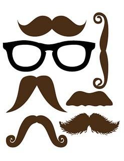 Moustache & Glasses Printable