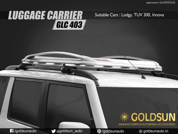 Mahindra TUV 300 is all set to launch as more powerful version of the SUV with the feature of mHawk100 type of the same engine. Revamp your car style & safety with our Automobile Accessories.  Product : Luggage Carrier Model : GLC 403  #Goldsun‬   #TUV300‬   #Accessories‬