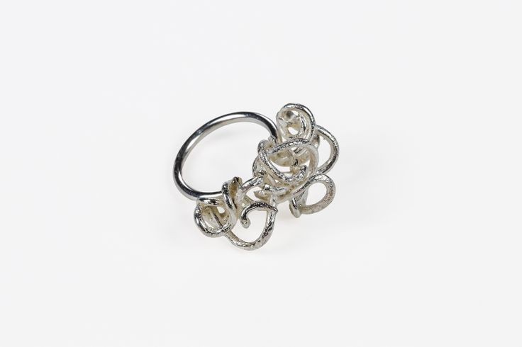 Sterling Silver Small Bramble Party Ring