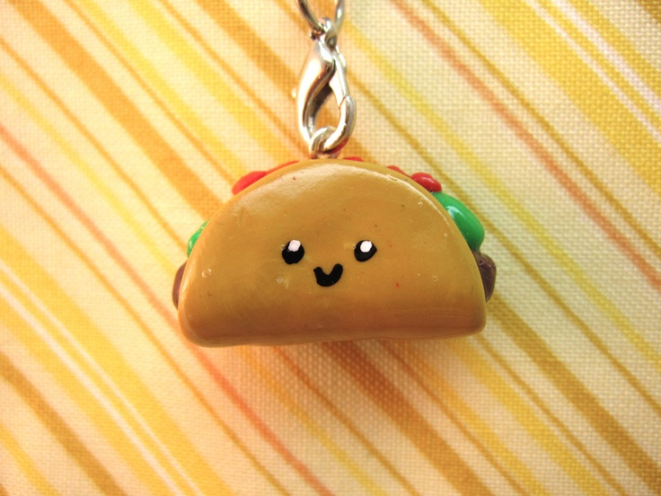 Taco Flavored Kisses  -  Taco Cell Phone Charm