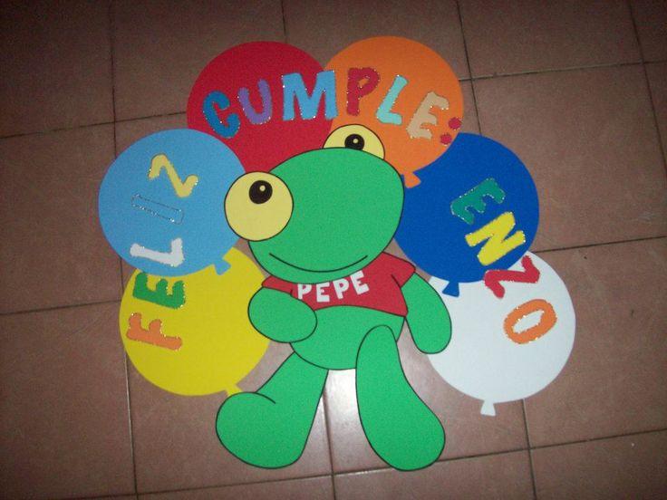 cartel feliz cumpleaños sapo pepe | Gomma crepla - goma eva ...