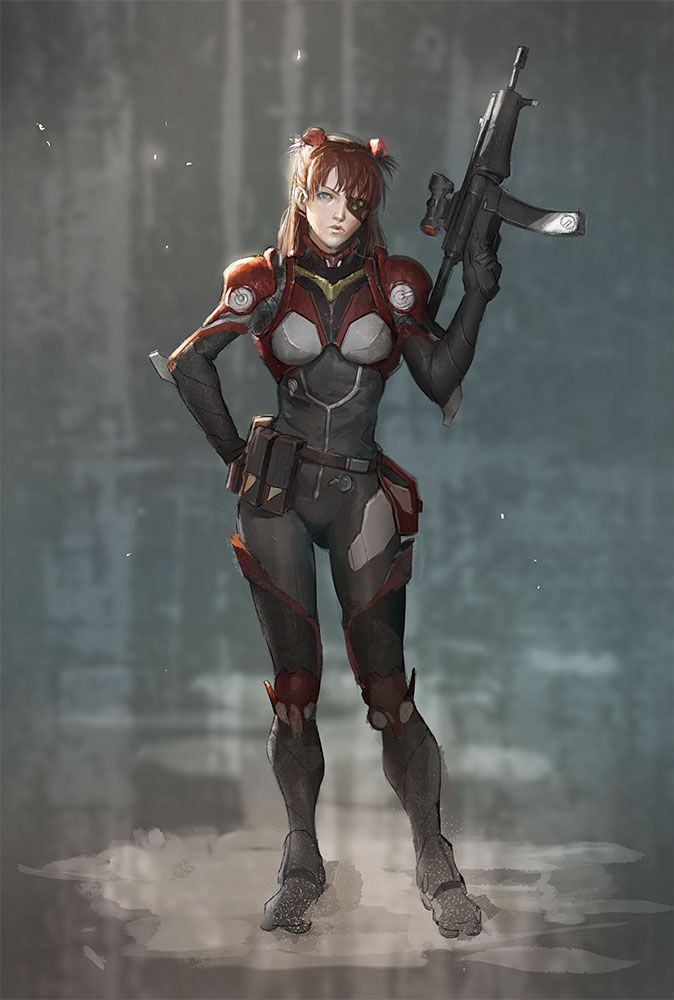 Asuka Space Trooper by timmi-o-tool.deviantart.com on @deviantART