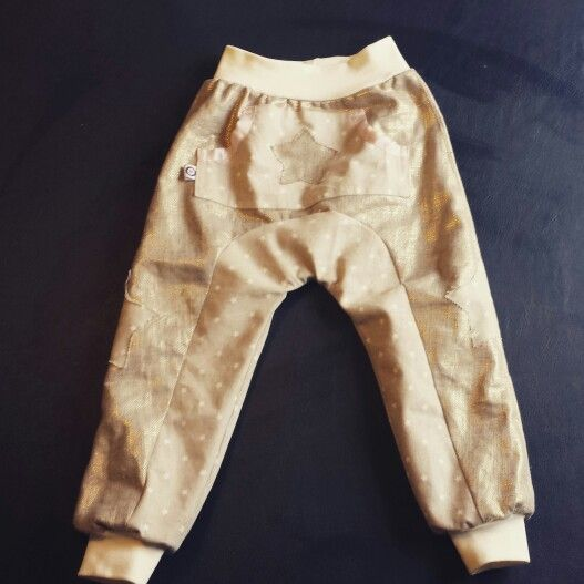 Gold linnen pants