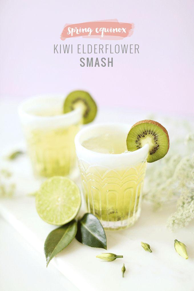 Spring Equinox Kiwi Elderflower Smash + Eau Claire Distillery Prickly Pear EquineOx Giveaway // JustineCelina.com