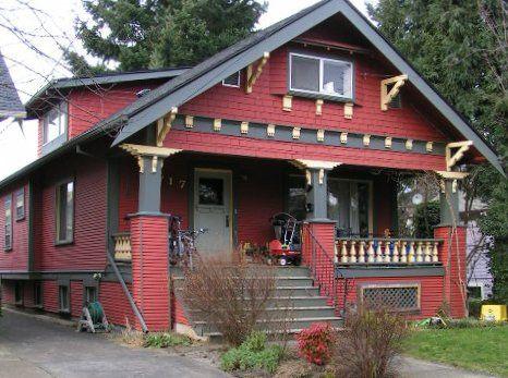 Craftsman house external colors exterior color schemes red paint colors for the historic - Craftsman bungalow home exterior ...
