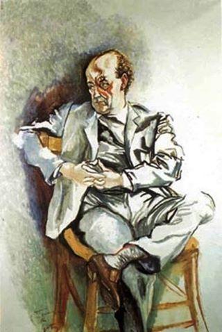 Renato Guttuso - Ritratto di Manzù, 1963