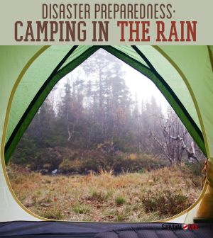What to do when you're stuck outdoors in the rain | Camping Food, Camping Ideas, Camping Tips and Camping Meals at survivallife.com #campingtips