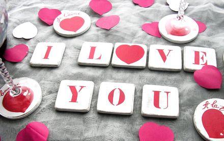 25 best ideas about lettre saint valentin on pinterest for Deco de table saint valentin