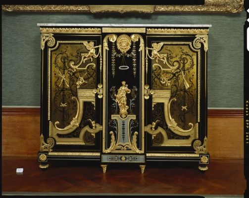 Pair of Cabinets   Royal Collection Trust Attributed to Andre Charles  Boulle (1642-1732) Ebony,oak.tortoise shell,gilt bronze,brass.