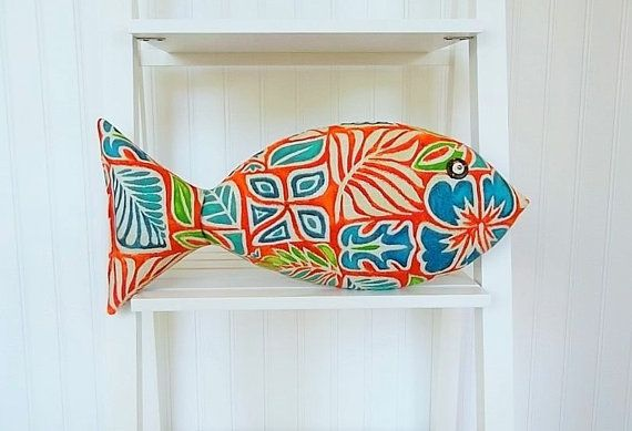 Tropical Fish Pillow  Key West Decor  Hawaiian by CatherinePicone
