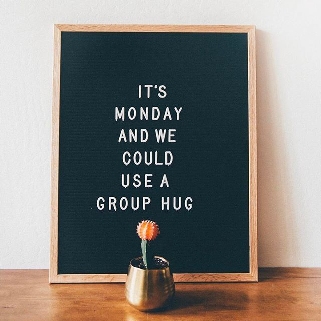 "Can ""group hug Monday"" please become a thing? : @lumitory"