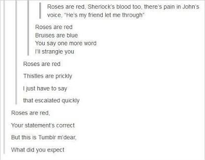 Roses are gone The Doctor is blue My heart is broken And so is everybody else's too