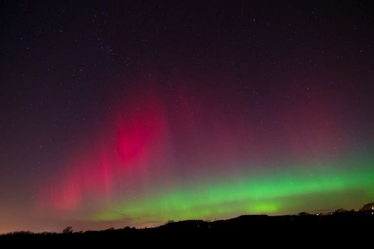 northern lights in north wales