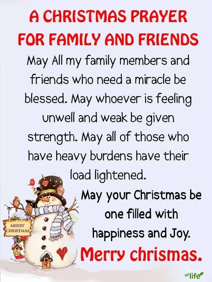 A Christmas Prayer For Family And Friends Christmas Merry Christmas Christmas Quotes Christmas Christmas Prayer For Family Christmas Prayer Christmas Thoughts