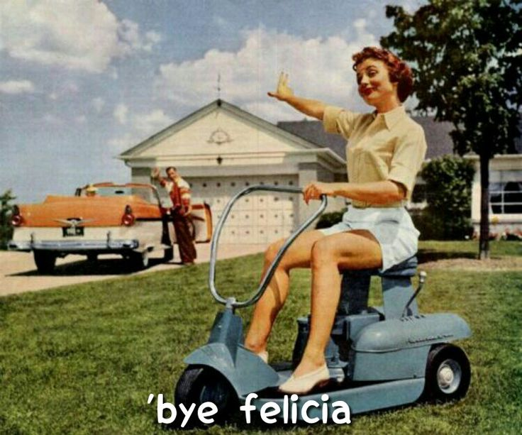 Bye felicia means bye bitch.  I've seen one too many white males like Tony Tony and others say this to females who are more intelligent.   So, if your saying bye felicia, you are on a Tony Tony level at the bottom of the IQ scale.