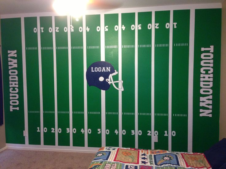 Elegant Football Field In A Little Boys Room. Any Sports Fanatic Would Love This!  Painted Part 10