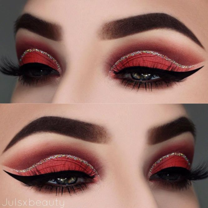 Cut Crease Makeup with Glitter picture3