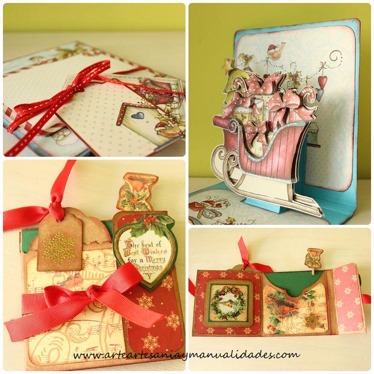 Arte artesania y manualidades tutorial tarjeta de - Manualidades tarjetas de navidad ...