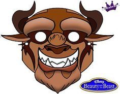 Free Printable Halloween Mask Of Beast From Beauty and the Beast | SKGaleana