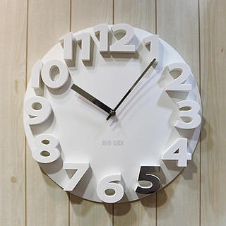 So simple and sleek, perfect for my humble abode.Iswa Block, Future Abode, Numbers Wall, Block Numbers, Humble Abode, Rec Room, Whaledesign Ideas, Wall Clocks, Clocks 32