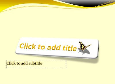 Special template powerpoint for someone who like butterfly. A simple template with yellow background and white shape. 3D shape and with Butterfly Yellow Animated make so beautiful an elegant. Including Word Art effect with a yellow color at master title.