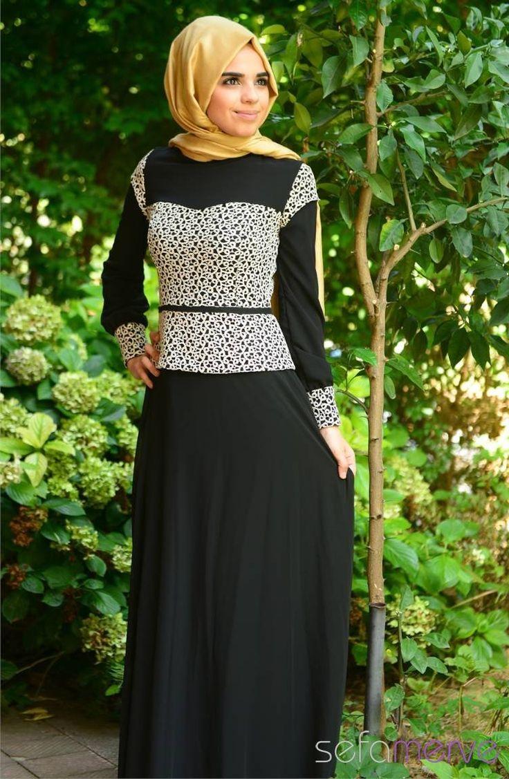 Tesettür Elbise Siyah #sefamerve #tesettur #tesetturgiyim #elbise#yenisezon #2014 #Hijabdress #Hijab #newseason #Hijabblack