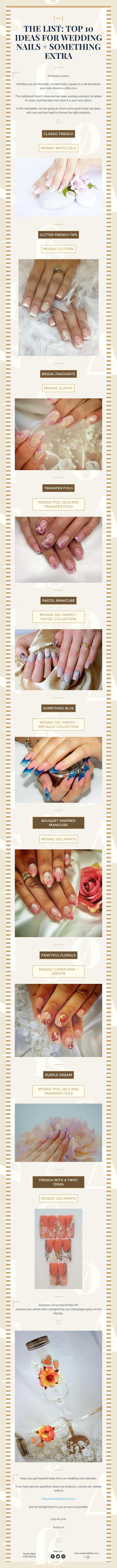 The list: top 10 ideas for wedding nails something extra