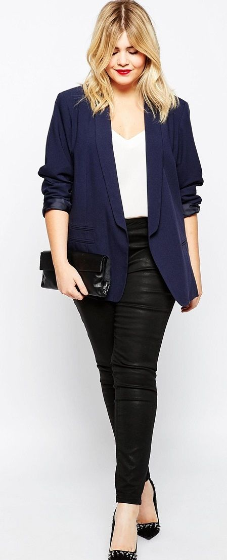 Navy Blazer & Black Pants | Womens Fashion | University/ College Outfits | Casual Outfits