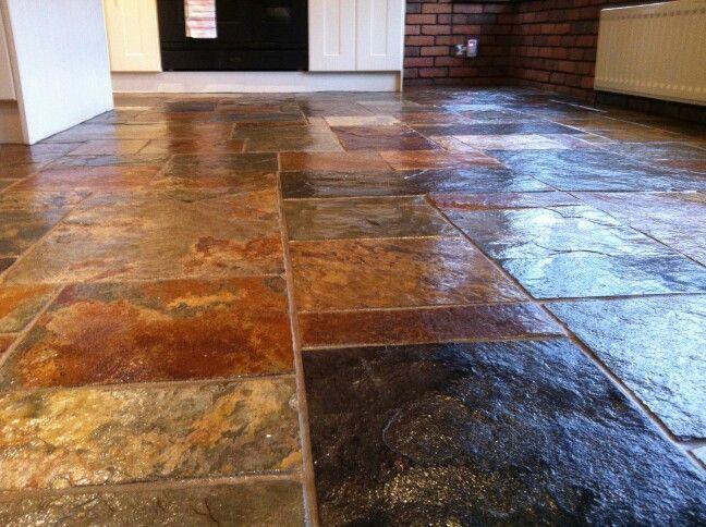 Sealed slate floor  Beautiful