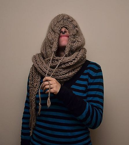 17 Best Images About Crochet Hooded Scarf Cowl On