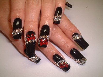 25 unique vegas nail art ideas on pinterest manicure games black in bling nails nail art archive style prinsesfo Choice Image