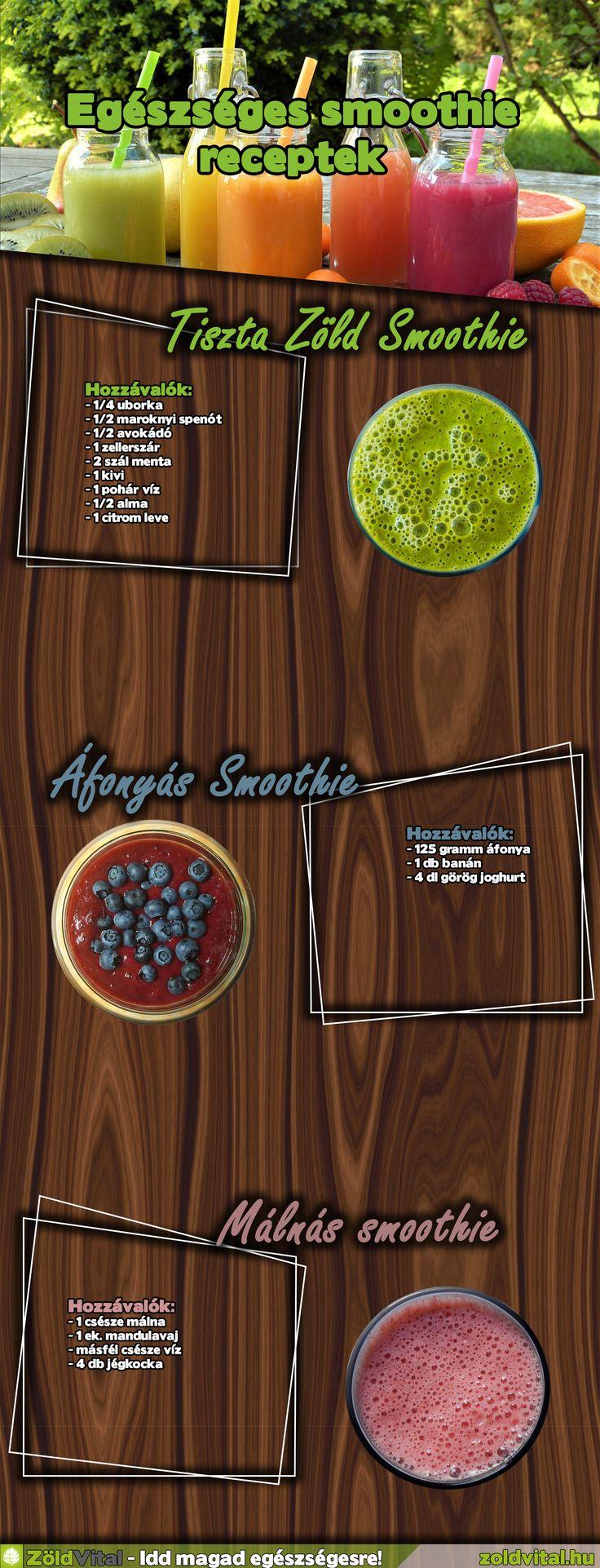 Egészséges smoothie receptek