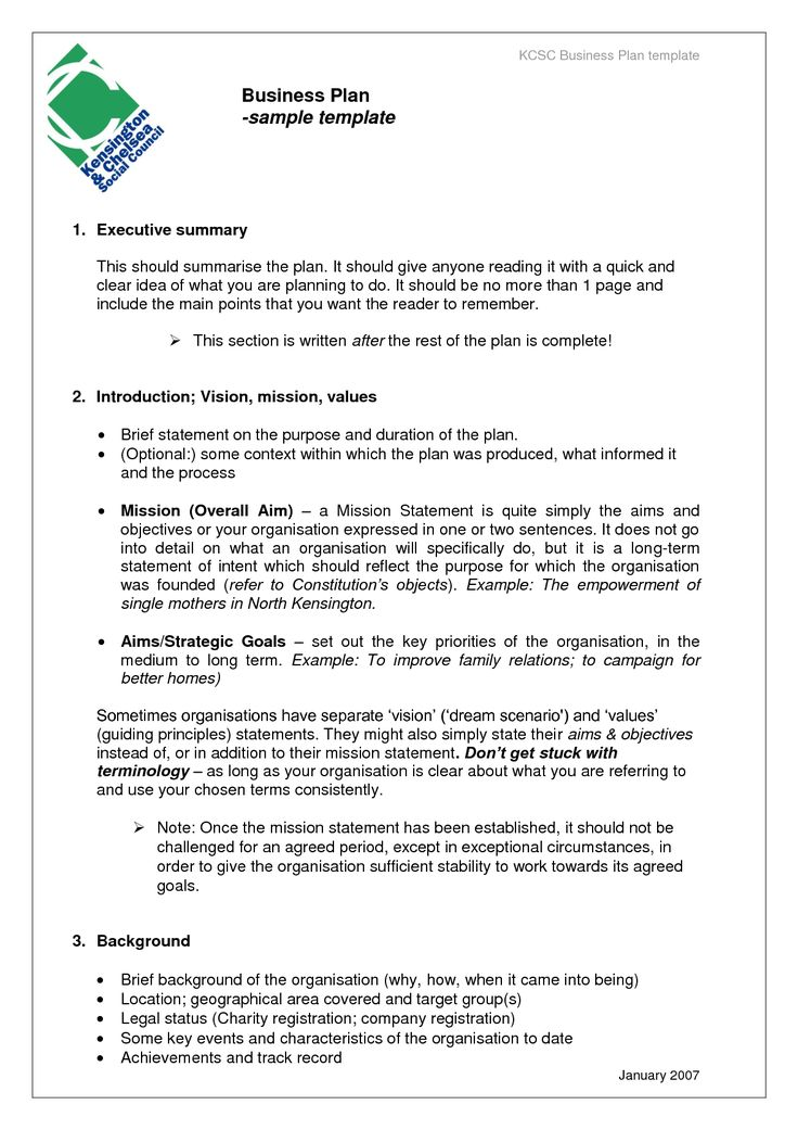 Business Proposal Templates Examples | Business Plan sample template