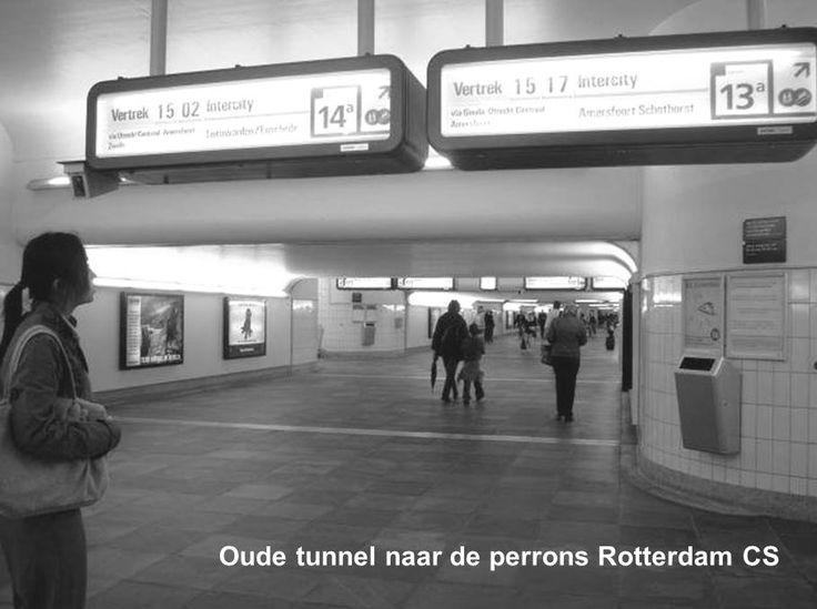 De oude tunnel naar de perrons van het Centraal Station Rotterdam.