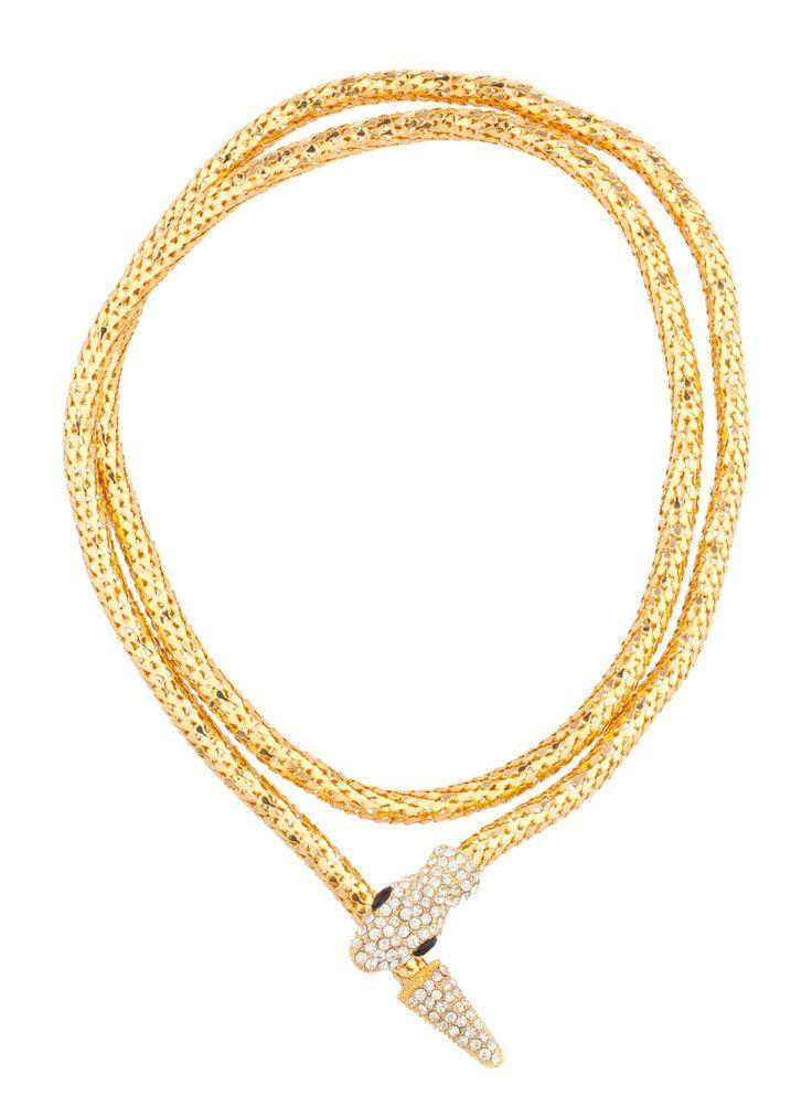 Shop Prima Donna - Viper Venom Wrap Necklace Gold at Prima donna