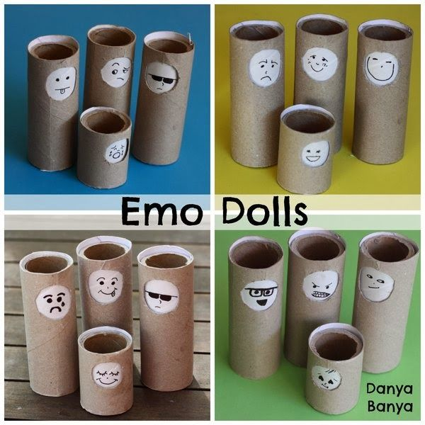 DIY Emo Dolls! Help your child learn about facial expressions, emotions and empathy with these free educational toys you can make with recycled materials in your own home.