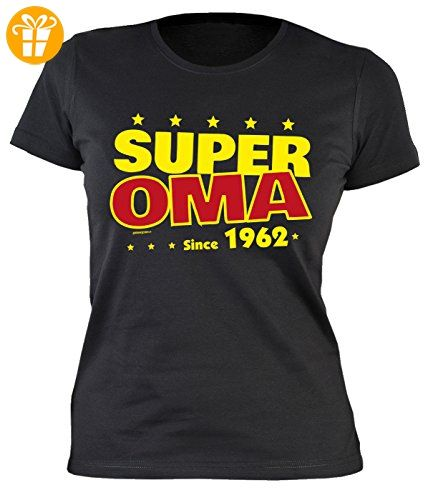 55 Geburtstag Damen Tshirt - Oma 55 Jahre T-Shirt : Super Oma since 1962 -- Geburtstagsshirt 55 Großmutter Gr: XXL (*Partner-Link)
