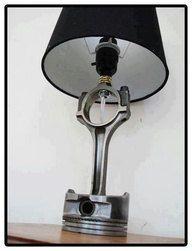 Piston Head Lamp Motor parts Custom Made by EngineHacker on Etsy, $135.00