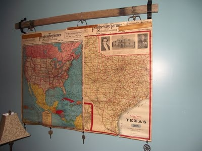 Wooden hangers for displaying maps and posters!