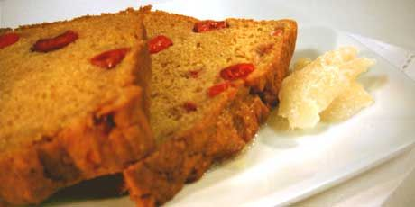 Pumpkin Cranberry Loaf - such a nice sweet tangy taste - recipe by Anna Olson