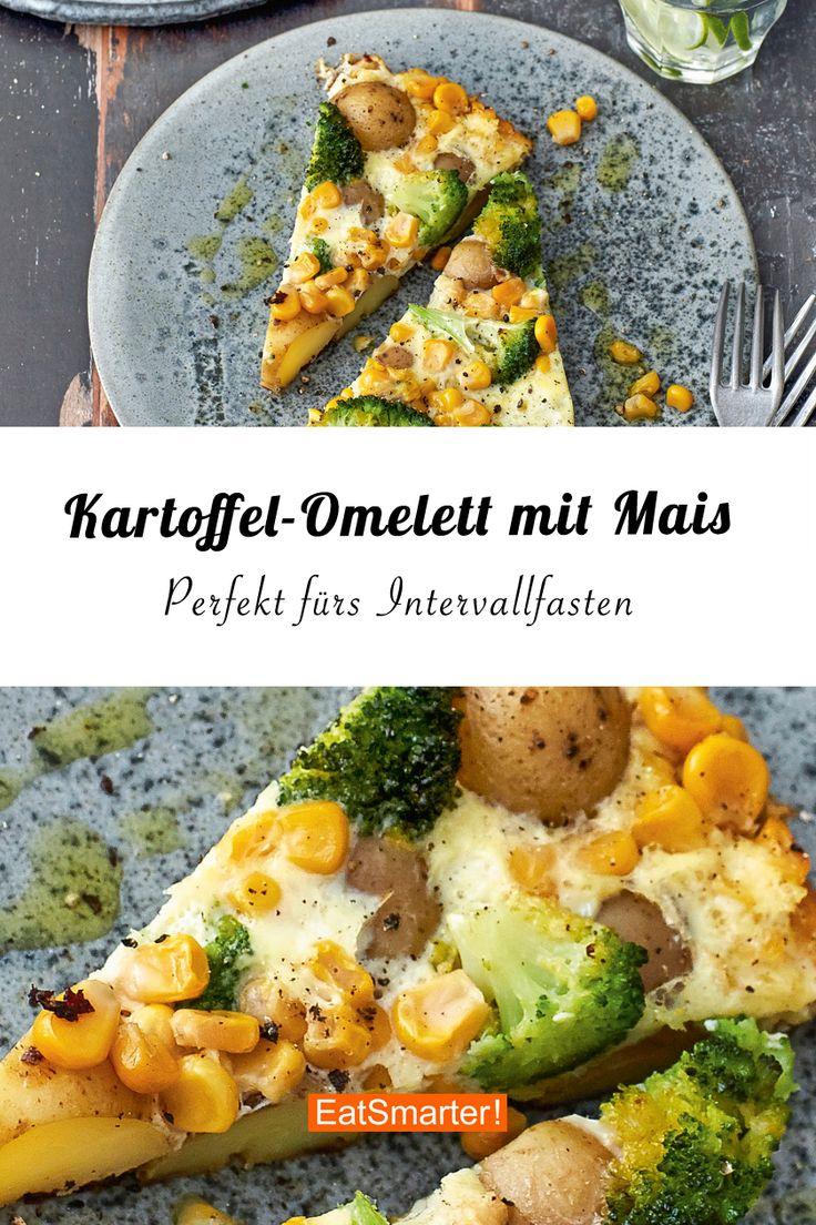 Potato omelette with corn   – Intervallfasten – Rezepte & Beginner's Guide