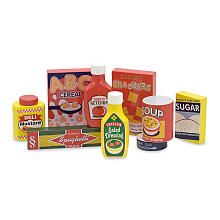 Melissa  Doug Wooden Pantry Products Play Food Set (9 pieces)