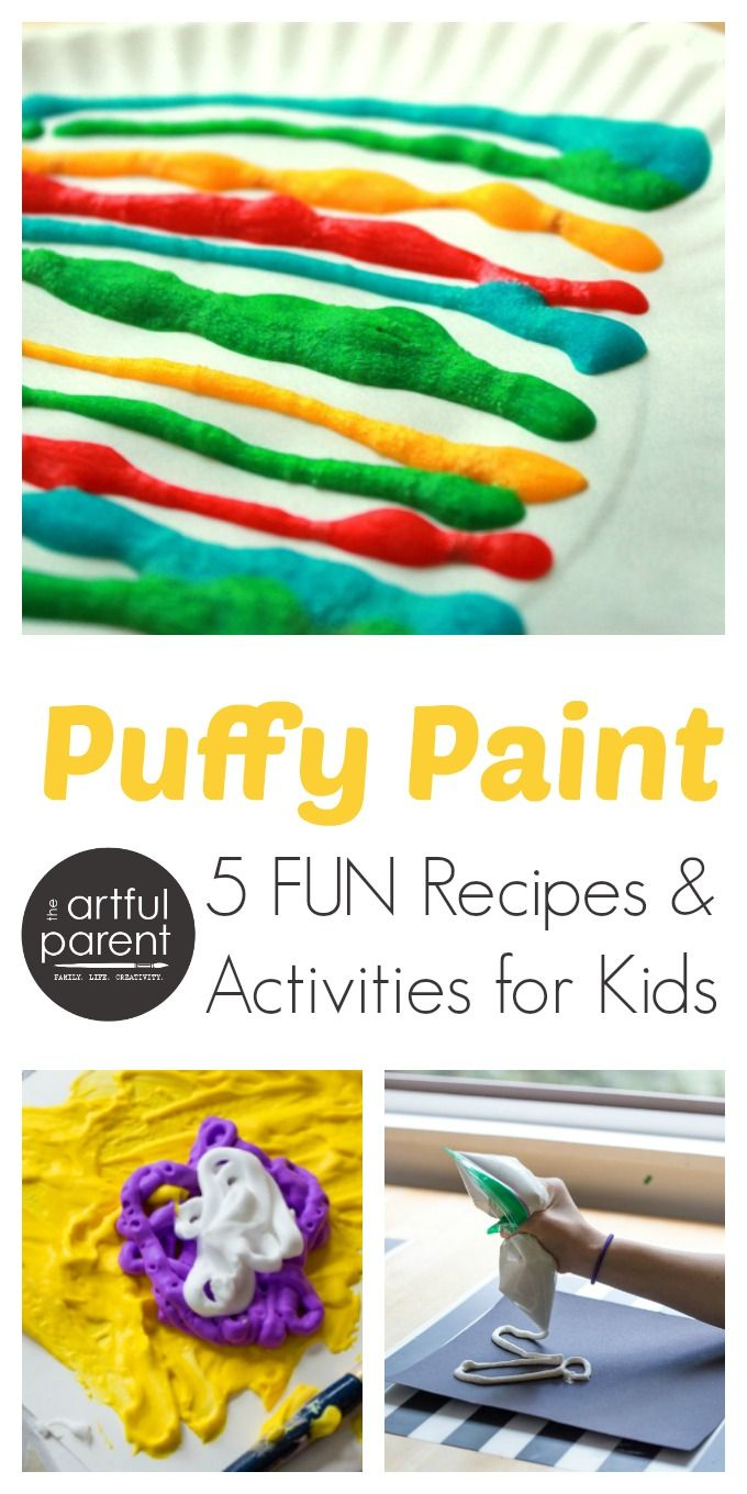 Puffy Paint for Kids 5 Recipes and Activities