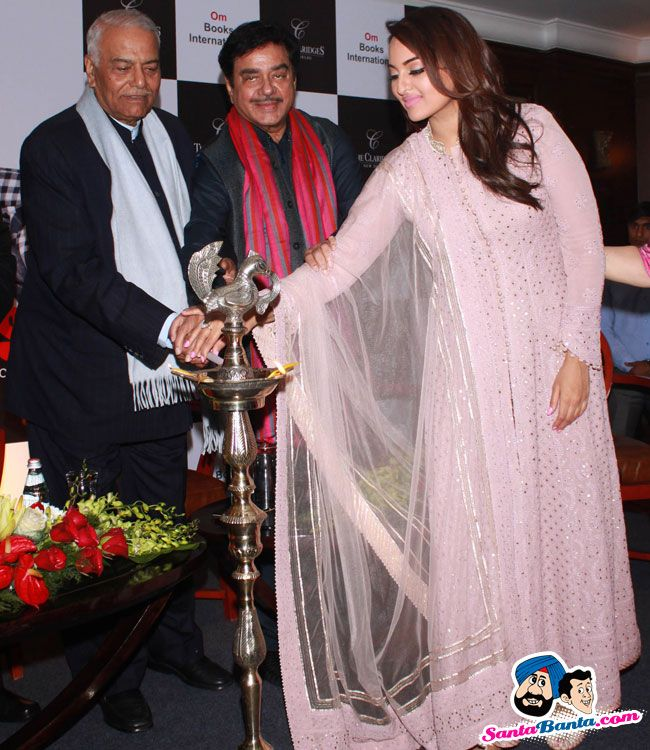 Launch of Shatrughans Biography Anything But Khamosh -- Shatrughan Sinha and Sonakshi Sinha Picture # 327795
