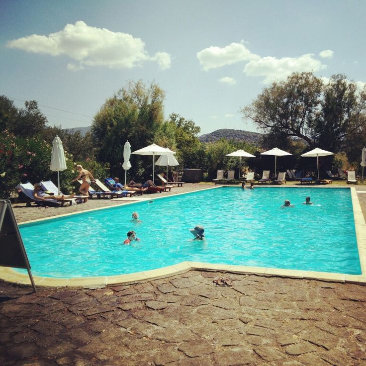 Swimming pool @ Olive Press Hotel, in Molyvos (Lesvos, Greece)