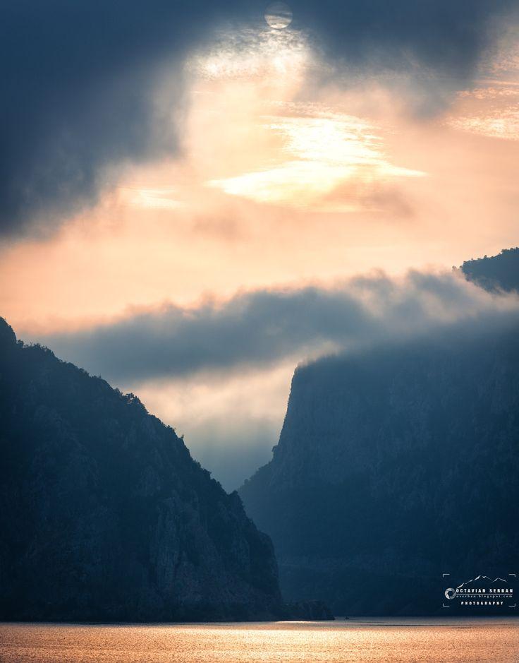 Danube - Morning on Danube in Cazane