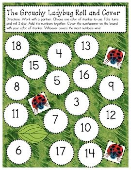 This is a differentiated math center I used during our Eric Carle unit. My students worked with a partner and played this first in a guided math gr...